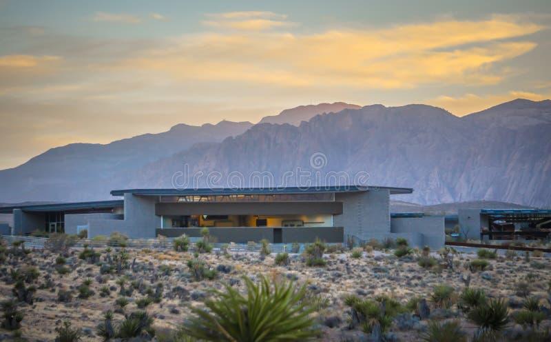 Scenics rosso della natura del Nevada del canyon della roccia fotografia stock libera da diritti