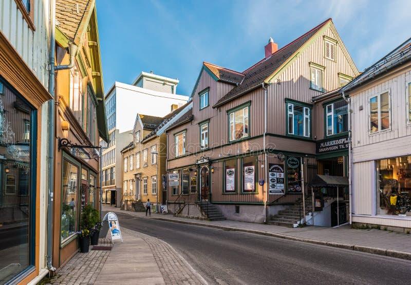 Scenics urbano de Tromso, Noruega imagem de stock royalty free