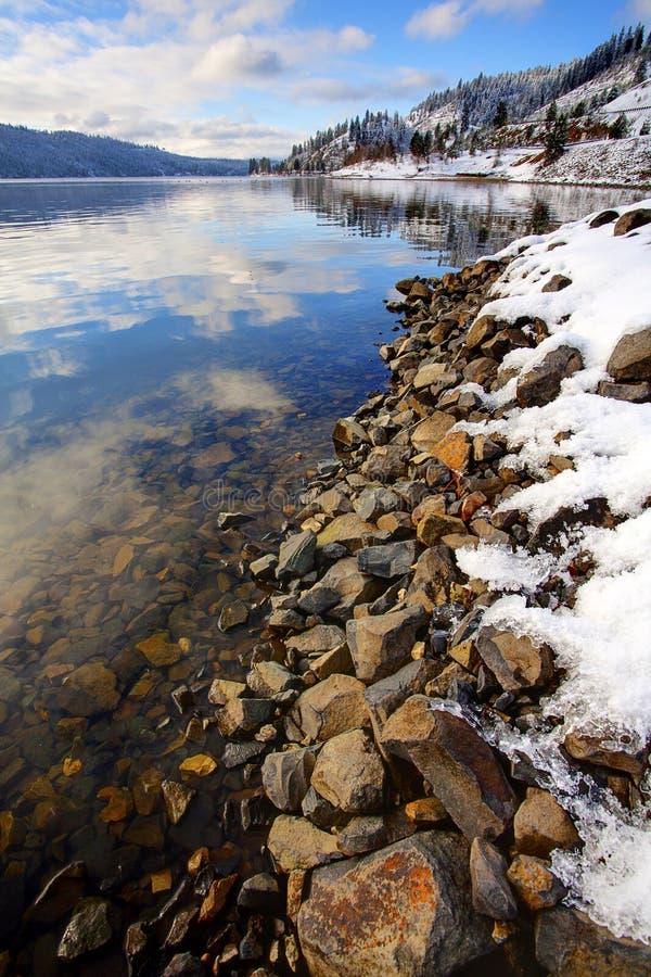 Sceniczna dramatyczna zima. zdjęcie royalty free