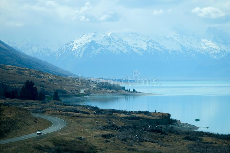 Sceniczna droga w Nowa Zelandia zdjęcie stock