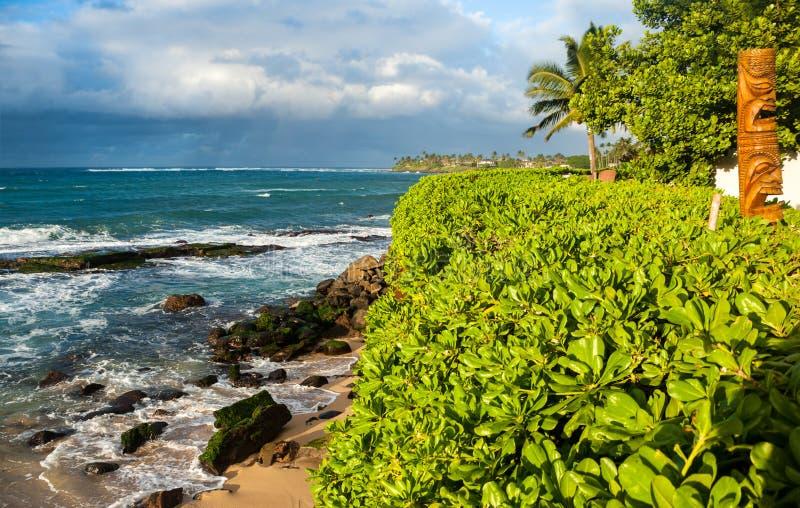 Sceniczna linia brzegowa na zachodniej stronie Maui wyspa obraz stock
