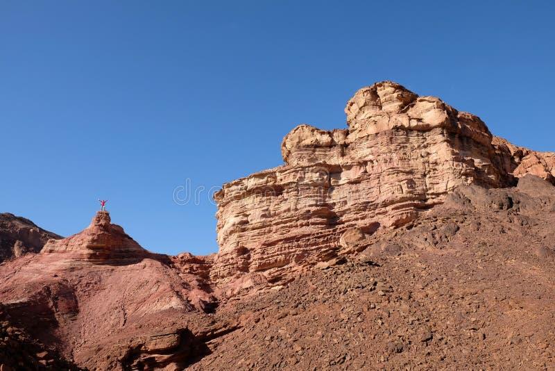 Sceniczna podwyżka w Eilat górach obrazy royalty free