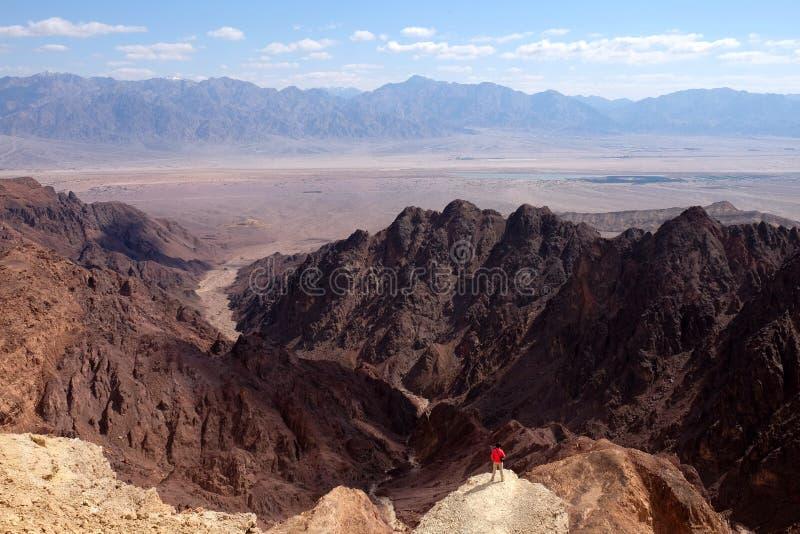 Sceniczna podwyżka w Eilat górach zdjęcie royalty free