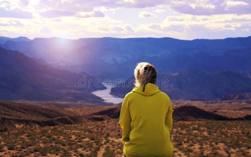 Sceniczni Arizona krajobrazy przy zmierzchem zdjęcia royalty free