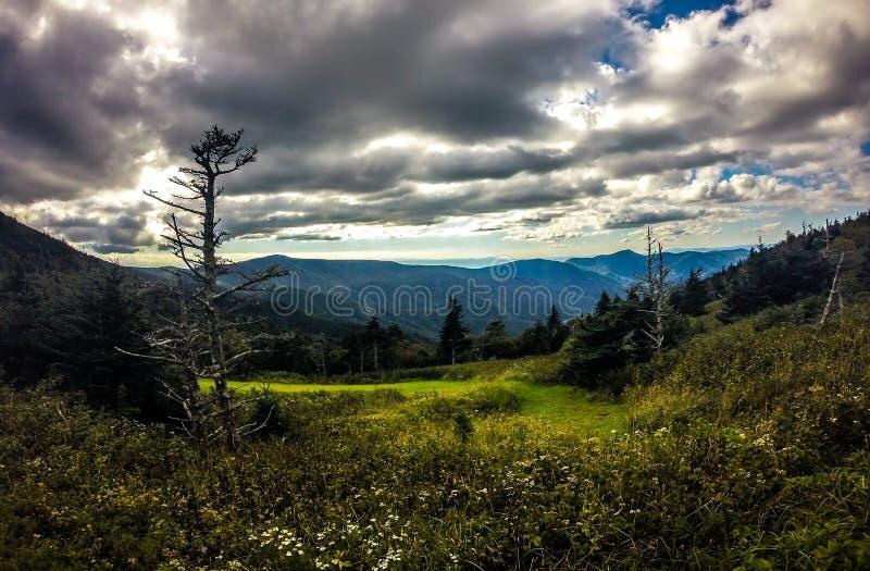 Sceniczni widoki przy zmierzchem na górze góry Mitchell obrazy royalty free