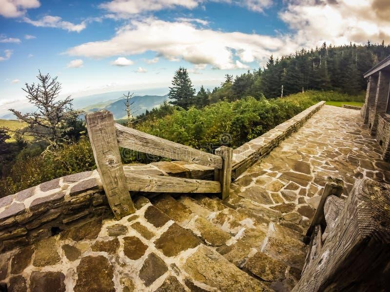 Sceniczni widoki przy zmierzchem na górze góry Mitchell zdjęcie royalty free