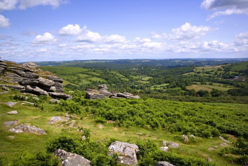 Sceniczny Devon, Dartmoor - fotografia royalty free