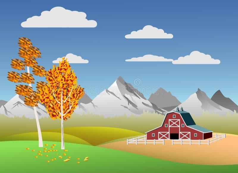 Sceniczny góra krajobraz ilustracji