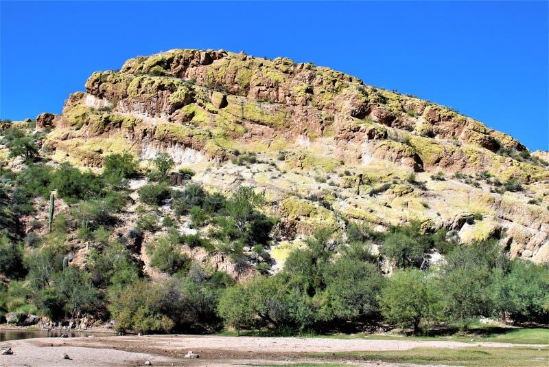 Sceniczny Krajobrazowy widok od mes, Arizona fontann wzgórza, Maricopa okręg administracyjny, Arizona, Stany Zjednoczone obrazy royalty free