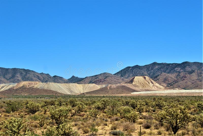 Sceniczny krajobrazowy widok Phoenix Las Vegas, Arizona, Stany Zjednoczone obraz stock