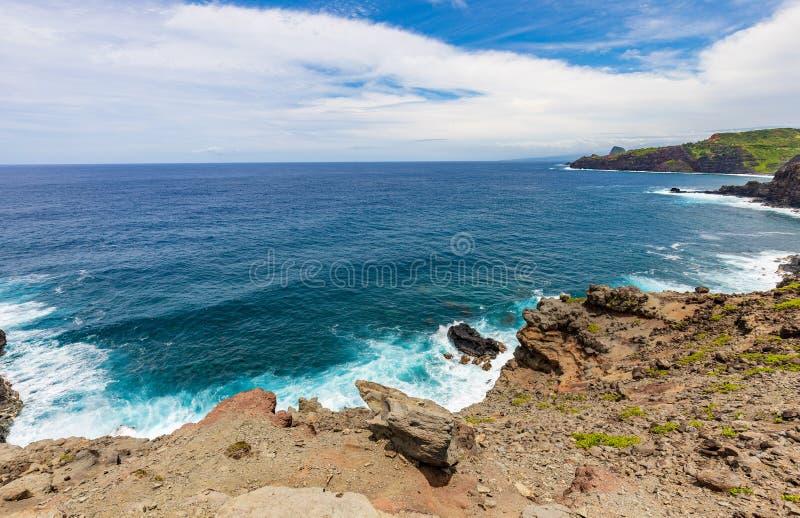 Sceniczny Maui linii brzegowej krajobraz fotografia stock