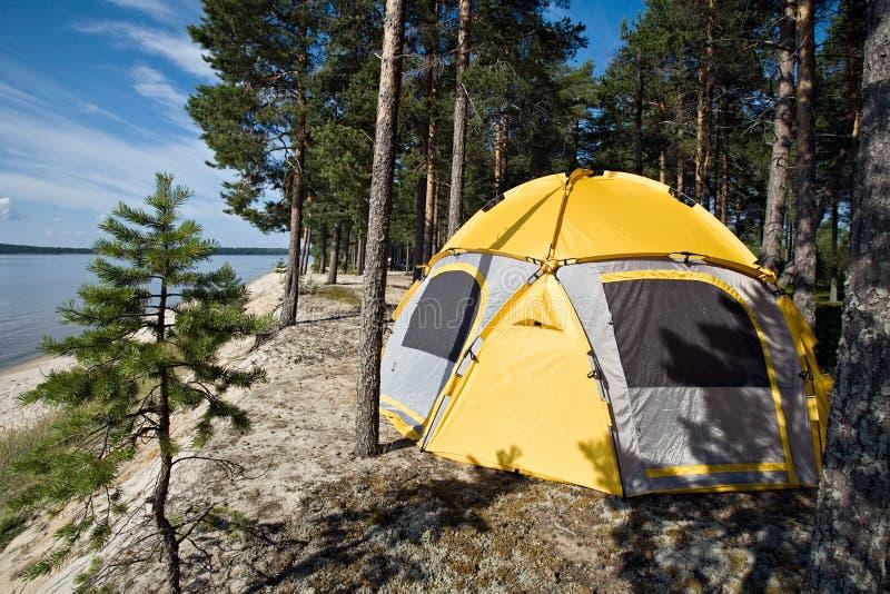 sceniczny namiotowy turystyczny widok zdjęcia stock