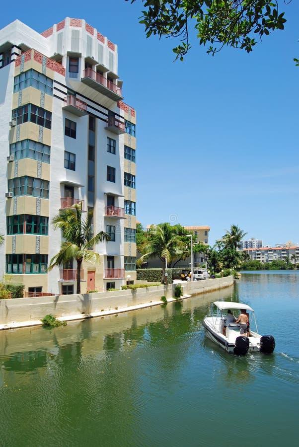sceniczny plażowy Miami obrazy royalty free