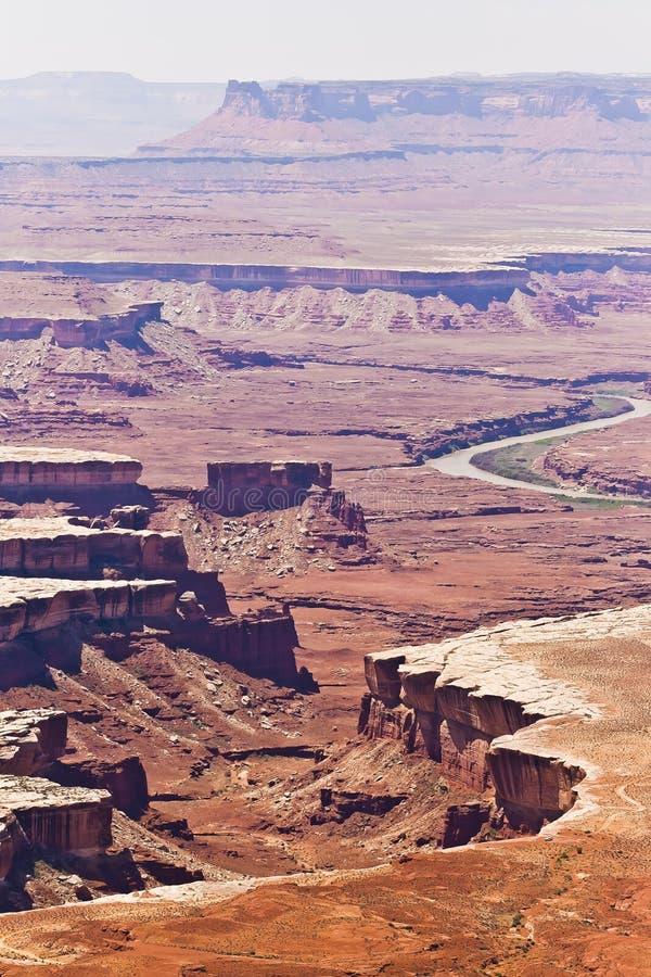 Sceniczny Przegapia od Canyonlands wyspy w niebie, Moab pustynia obraz stock