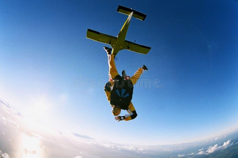 sceniczny skoki z samolotu zdjęcie royalty free