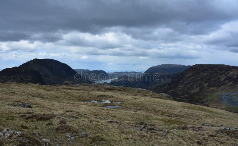 Sceniczny spojrzenie przy Blackbeck Tarn w Cumbria Anglia fotografia stock