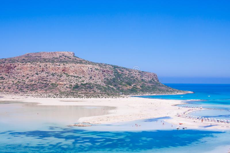 Sceniczny widok Balos zatoka, Crete morze zdjęcia royalty free