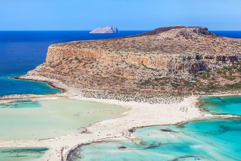 Sceniczny widok Balos zatoka na Crete wyspie, Grecja obraz stock