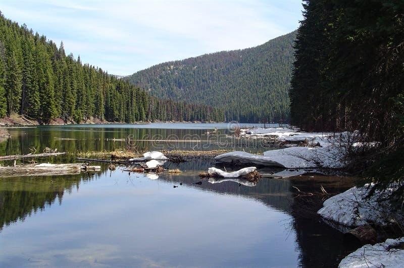 Sceniczny widok Buntzen jezioro obrazy royalty free