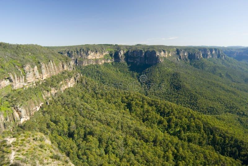 Sceniczny widok escarpment w Błękitnych górach zdjęcie royalty free