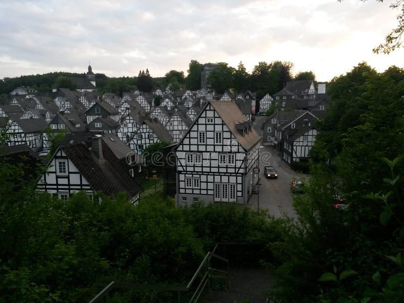 Sceniczny widok Freudenberg Niemcy zdjęcia royalty free