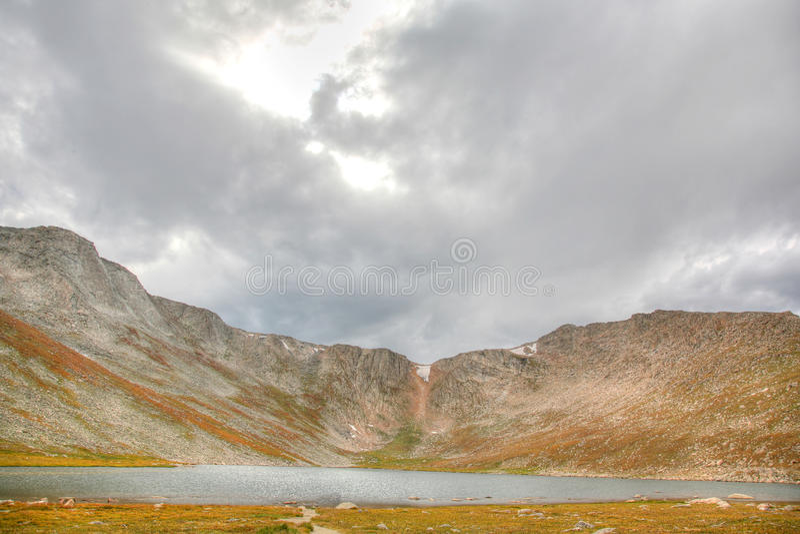 Sceniczny widok górski blisko Mt Evans Kolorado fotografia royalty free