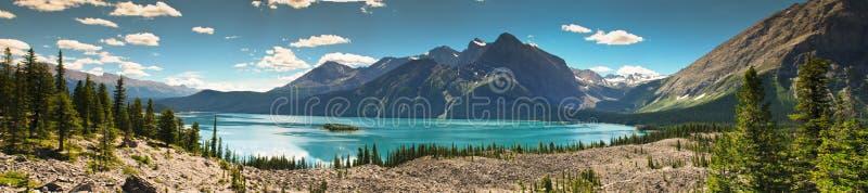 Sceniczny widok górski Kananaskis kraj Alberta Kanada fotografia stock