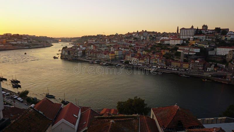 sceniczny widok nad Douro rzeką w Porto obraz royalty free