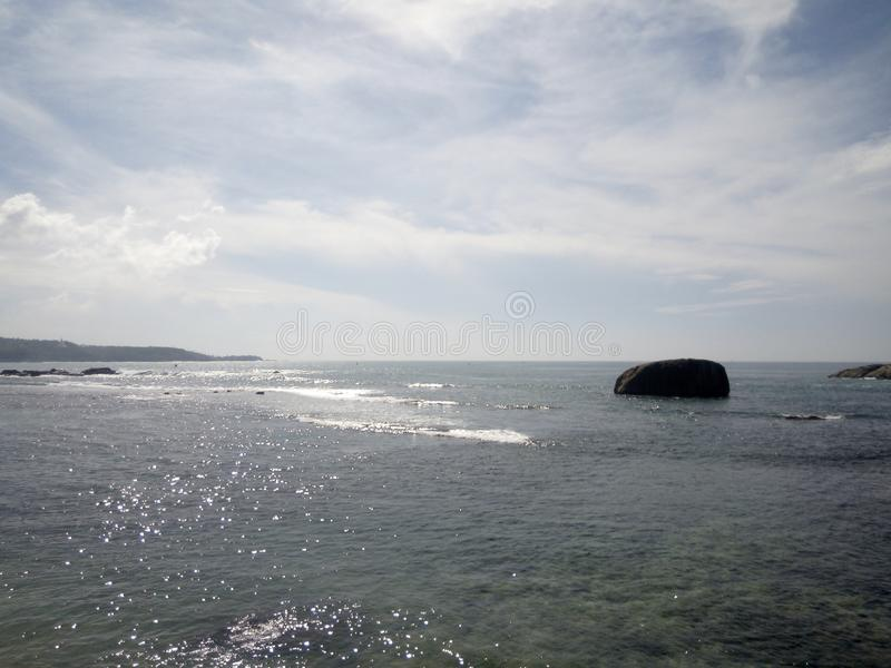 Sceniczny widok ocean w Galle, Sri Lanka obrazy royalty free