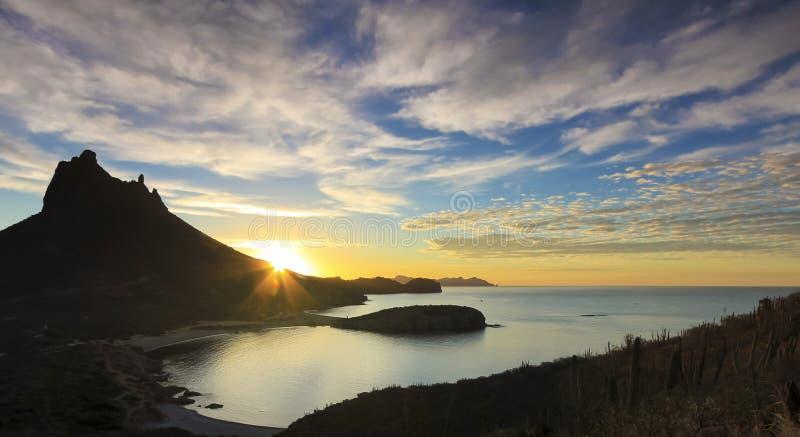 Sceniczny widok od Mirador punktu obserwacyjnego, San Carlos, Sonora, Meksyk fotografia royalty free