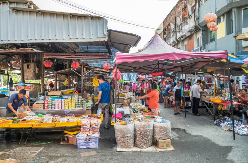 Sceniczny widok ranku rynek w Ampang, Malezja fotografia royalty free