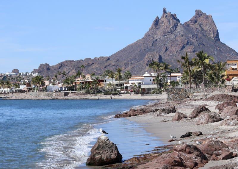 Sceniczny widok Tetakawi góra Nad San Carlos, Sonora, Mex zdjęcie royalty free