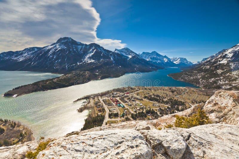 Sceniczny widok Waterton jezior park narodowy obraz royalty free