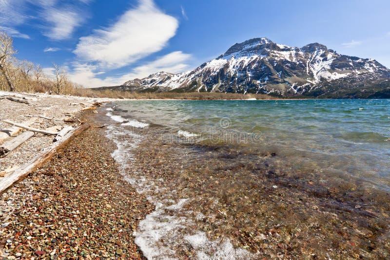 Sceniczny widok Waterton jezior park narodowy fotografia stock