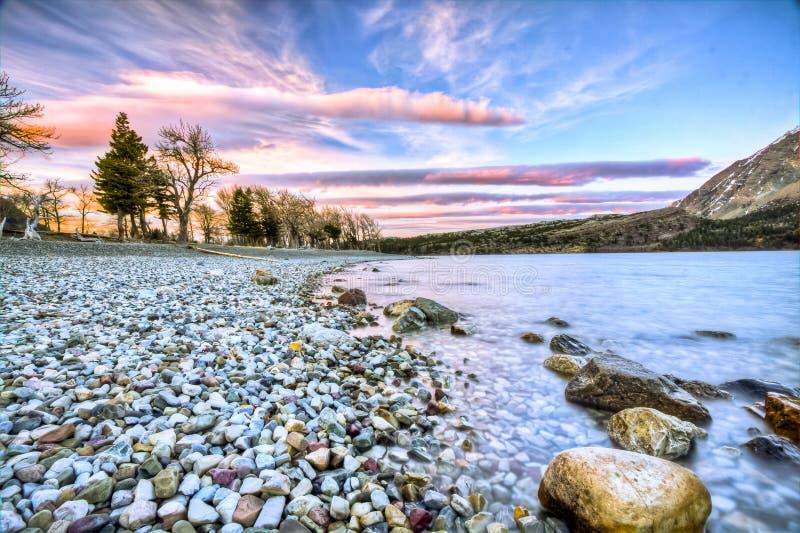 Sceniczny widok Waterton Jeziorny park narodowy, Alberta Kanada fotografia stock