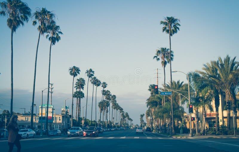 Sceniczny wieczór w Snata Monica Wycieczka Los Angeles, Kalifornia, usa zdjęcie royalty free