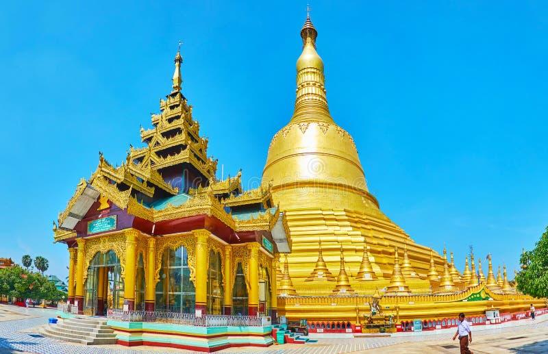 Sceniczny wizerunku dom przy Shwemawdaw Paya, Bago, Myanmar obraz royalty free