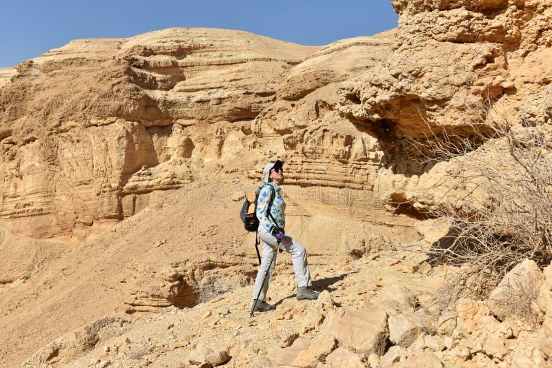 Sceniczny wycieczkowa? w Judea pustyni g?rze obrazy royalty free