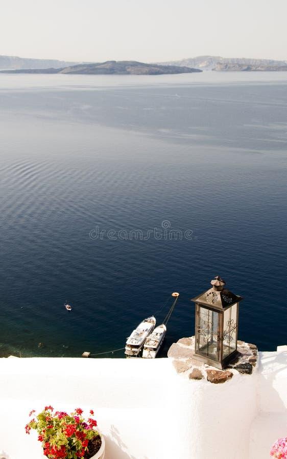 scenisk öoia för caldera grekisk santorini royaltyfria foton