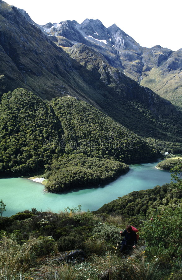 scenisk dal för lak-berg royaltyfri fotografi