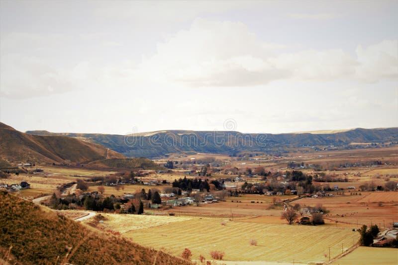 Scenisk dal nära Emmett, Idaho royaltyfri foto