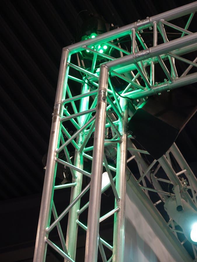 scenisk för konsertlampaetapp fotografering för bildbyråer