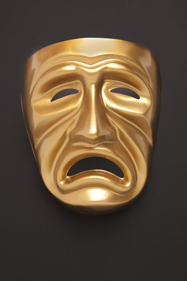 Scenisk maskering för tragedi royaltyfri foto