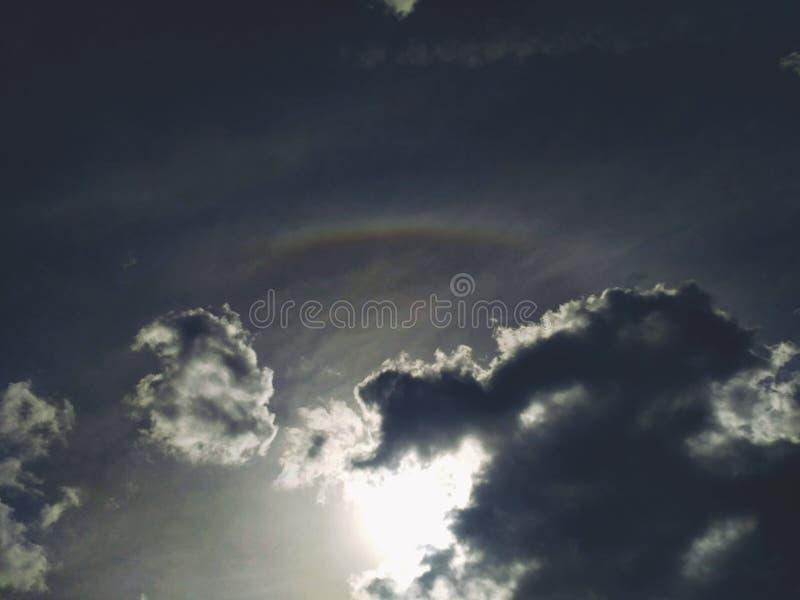 Scenisk regnbågegloria royaltyfri bild