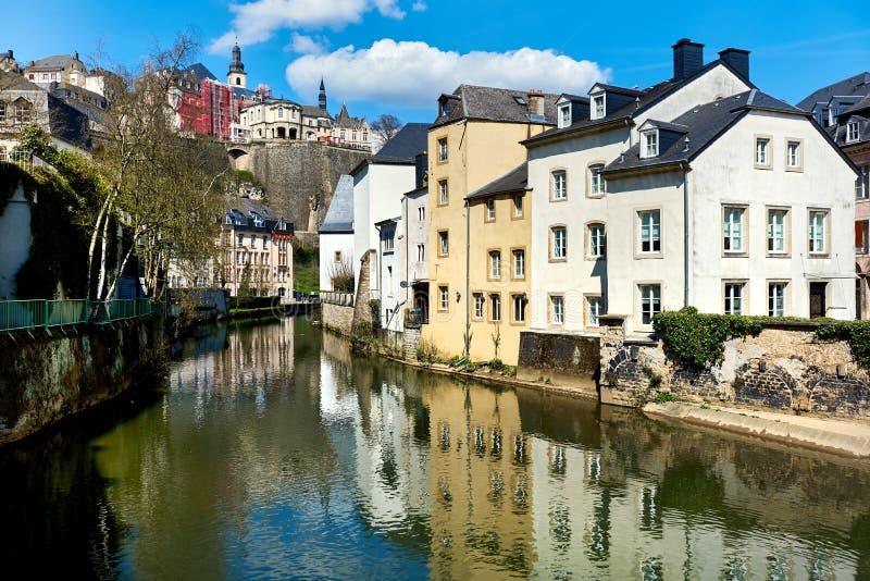 Scenisk sikt av den Luxembourg staden arkivbild
