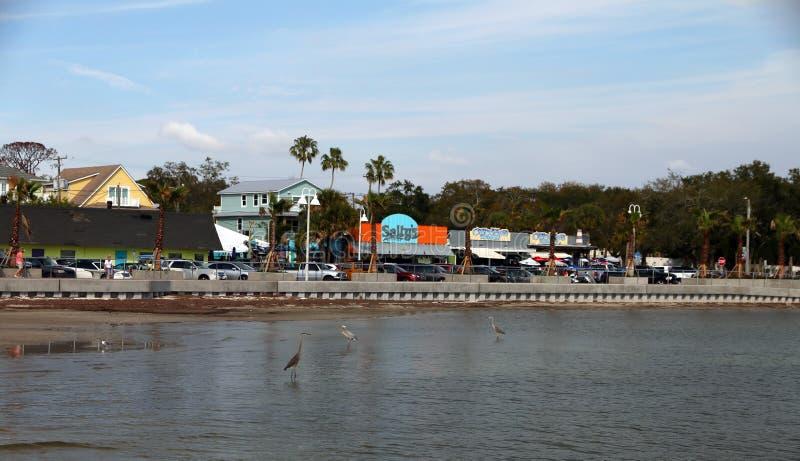 Scenisk sikt av Gulfport, Florida royaltyfria bilder