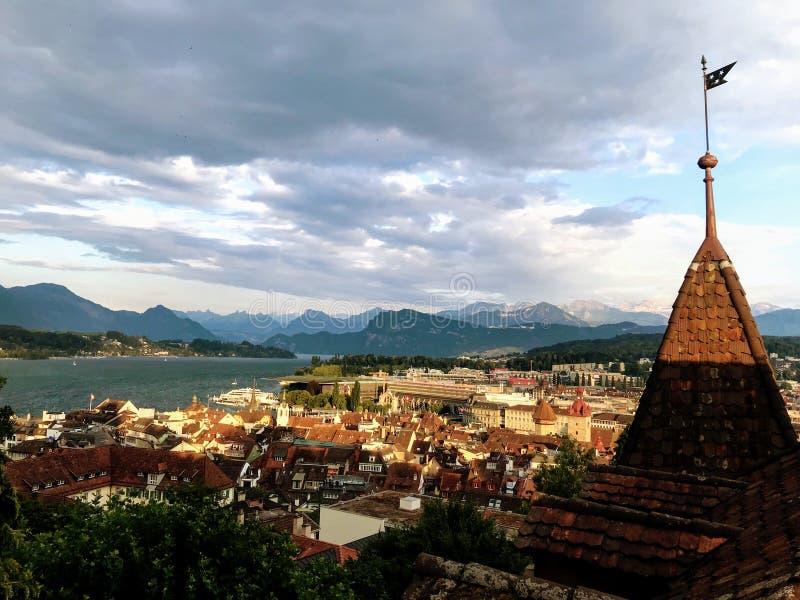 Scenisk sikt av Lucerne royaltyfria foton