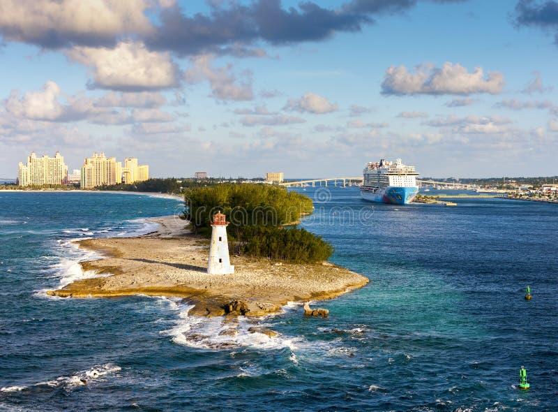 Scenisk sikt av Nassau, Bahamas royaltyfri bild