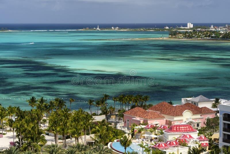Scenisk sikt för landskap av Bahamas royaltyfria bilder