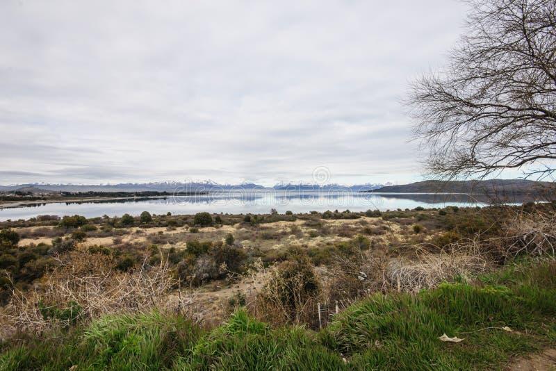Scenisk sikt i Patagonia fotografering för bildbyråer